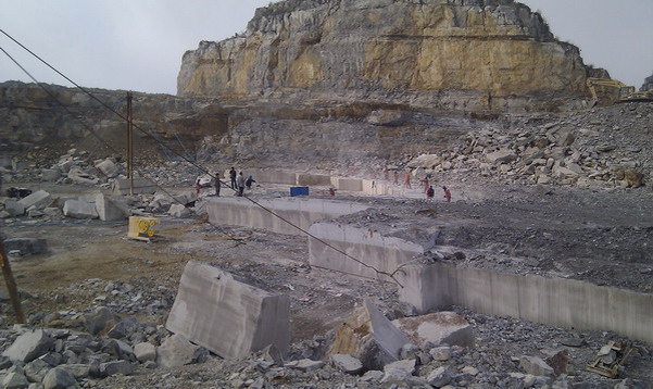 Wooden Grey Marble Quarry