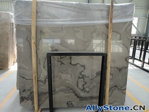 Athens Wooden Marble Cross Cut Slabs