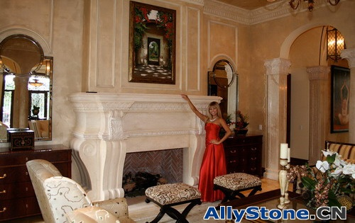 Marble Fireplace and archway