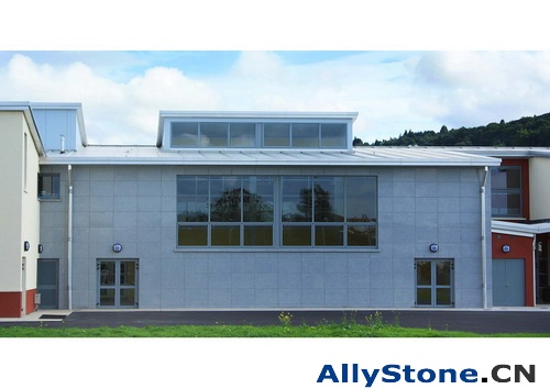 Year 2008 Outdoor Granite Wall Cladding Projec Ireland